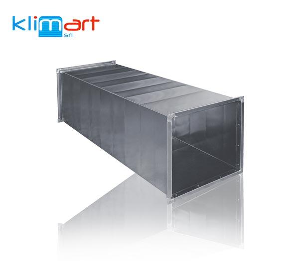 condotto rettangolare in lamiera di acciaio zincato