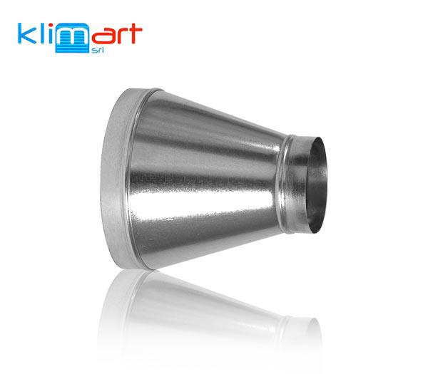 Riduzione conica simmetrica in lamiera di acciaio zincato