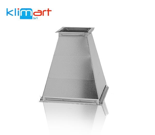 riduzione in lamiera di acciaio zincato